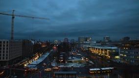 Lapso de tempo Ostbahnhof de Berlim vídeos de arquivo