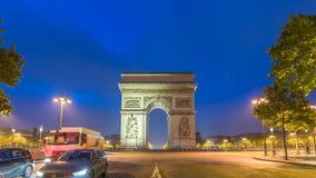 Lapso de tempo de Paris video estoque