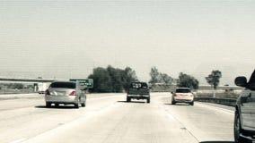 Lapso de tempo que conduz rapidamente no dia da estrada filme