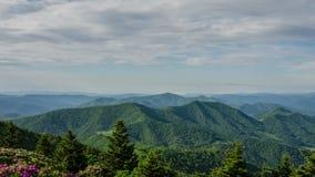 Lapso de tempo Ridge gramíneo, Roan Highlands, North Carolina video estoque