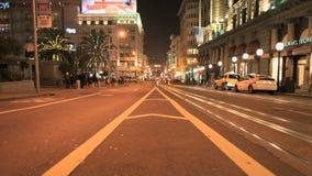 Lapso de tempo San Francisco City Streets na noite - grampo 2 vídeos de arquivo