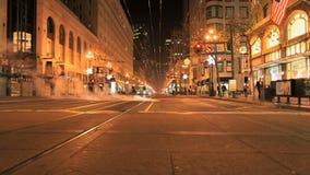 Lapso de tempo San Francisco City Streets na noite - grampo 3 filme