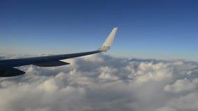 Lapso de tempo sutil do voo dos aviões video estoque