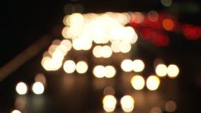 Lapso de tempo - tráfego de cidade do LA - luzes borradas - grampo 3 video estoque