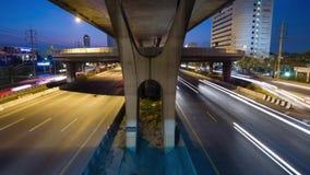 Lapso de tempo, transporte, tráfego video estoque