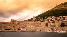 Lapso de tempo velho de Dubrovnik da cidade video estoque