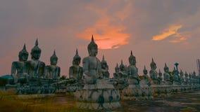 Lapso de tempo video 4k de Tailândia da estátua de Thammarat Buddha do si de Nakhon video estoque