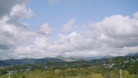 Lapso de tempo Vista do monte na paisagem do outono filme