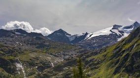 Lapso de tiempo alpino de verano de Grossvenediger almacen de metraje de vídeo