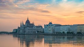 Lapso de tiempo de Budapest Hungría metrajes
