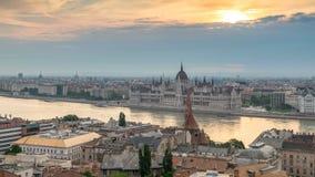 Lapso de tiempo de Budapest Hungría almacen de metraje de vídeo