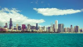 Lapso de tiempo céntrico de la ciudad de Chicago almacen de metraje de vídeo