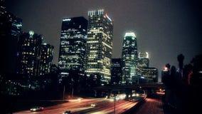 Lapso de tiempo céntrico del tráfico de Los Ángeles - clip 1 almacen de metraje de vídeo