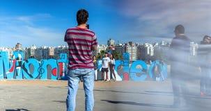 Lapso de tiempo con la toma panorámica en la muestra de Montevideo metrajes
