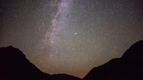 Lapso de tiempo de Astro de la galaxia de la vía láctea almacen de metraje de vídeo