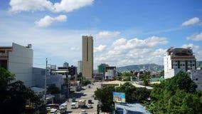 Lapso de tiempo de la calle de la ciudad de la mañana Cebú almacen de video