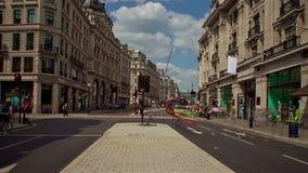 Lapso de tiempo de la calle de Londres Oxford almacen de metraje de vídeo