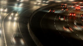 Lapso de tiempo de la carretera ocupada en la noche, Los Ángeles almacen de video