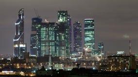 Lapso de tiempo de la ciudad de Moscú almacen de metraje de vídeo