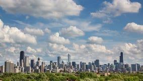 Lapso de tiempo de la ciudad del horizonte de Chicago almacen de metraje de vídeo