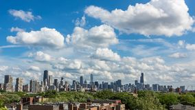 Lapso de tiempo de la ciudad del horizonte de Chicago almacen de video