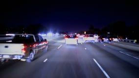 Lapso de tiempo de la conducción en la noche almacen de video