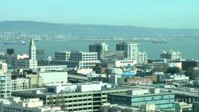 Lapso de tiempo de la descripción de San Francisco Bay City - 1 de 2 almacen de video