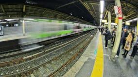 Lapso de tiempo de la estación de tren de Tokio almacen de metraje de vídeo