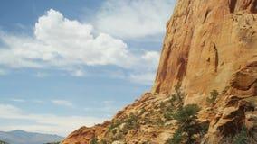 Lapso de tiempo de la nube del parque nacional de Zion metrajes