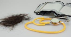 Lapso de tiempo de la pérdida y del equipamiento médico de pelo metrajes