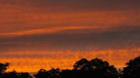 Lapso de tiempo de la puesta del sol almacen de metraje de vídeo