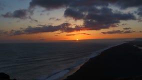 Lapso de tiempo de la puesta del sol de Islandia Fotos de archivo
