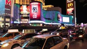 Lapso de tiempo de la tira de Las Vegas en la noche - 4K - 4096x2304 almacen de metraje de vídeo