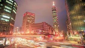 Lapso de tiempo de la vista tarde de Taipei, Taiwán almacen de video