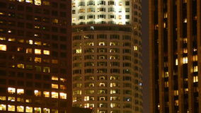 Lapso de tiempo de las construcciones de viviendas de la oficina en Los Ángeles almacen de video