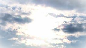 Lapso de tiempo de las nubes 2 almacen de metraje de vídeo