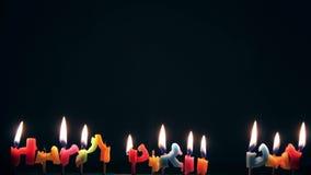 Lapso de tiempo de las velas del feliz cumpleaños almacen de metraje de vídeo