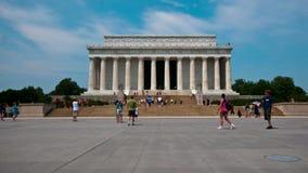 Lapso de tiempo de Lincoln Memorial en Washington DC - 4K almacen de metraje de vídeo