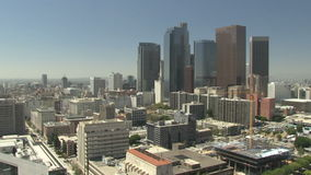 Lapso de tiempo de Los Ángeles céntrico almacen de metraje de vídeo