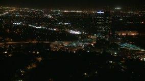 Lapso de tiempo de Los Ángeles desde arriba - 2 de 4 almacen de video