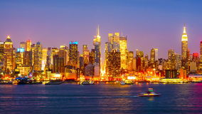 Lapso de tiempo de New York City almacen de video