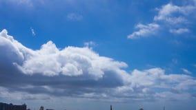 Lapso de tiempo de nubes sobre Cape Town almacen de video