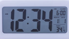 Lapso de tiempo de reloj de Digitaces almacen de video