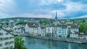 Lapso de tiempo de Zurich almacen de video