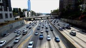 Lapso de tiempo del atasco en Los Ángeles céntrico almacen de video