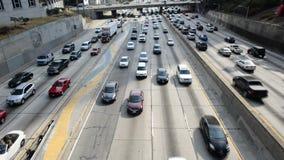 Lapso de tiempo del atasco en Los Ángeles céntrico almacen de metraje de vídeo