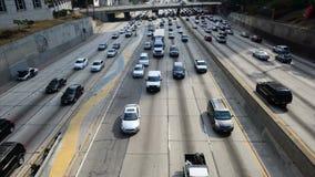 Lapso de tiempo del atasco en Los Ángeles céntrico metrajes