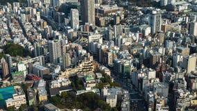 Lapso de tiempo del camino y de la ciudad metropolitanos, Tokio, Jap?n del empalme de la autopista almacen de video