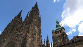 Lapso de tiempo del castillo de Praga, Praga almacen de video