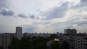 Lapso de tiempo del cielo de Moscú almacen de video